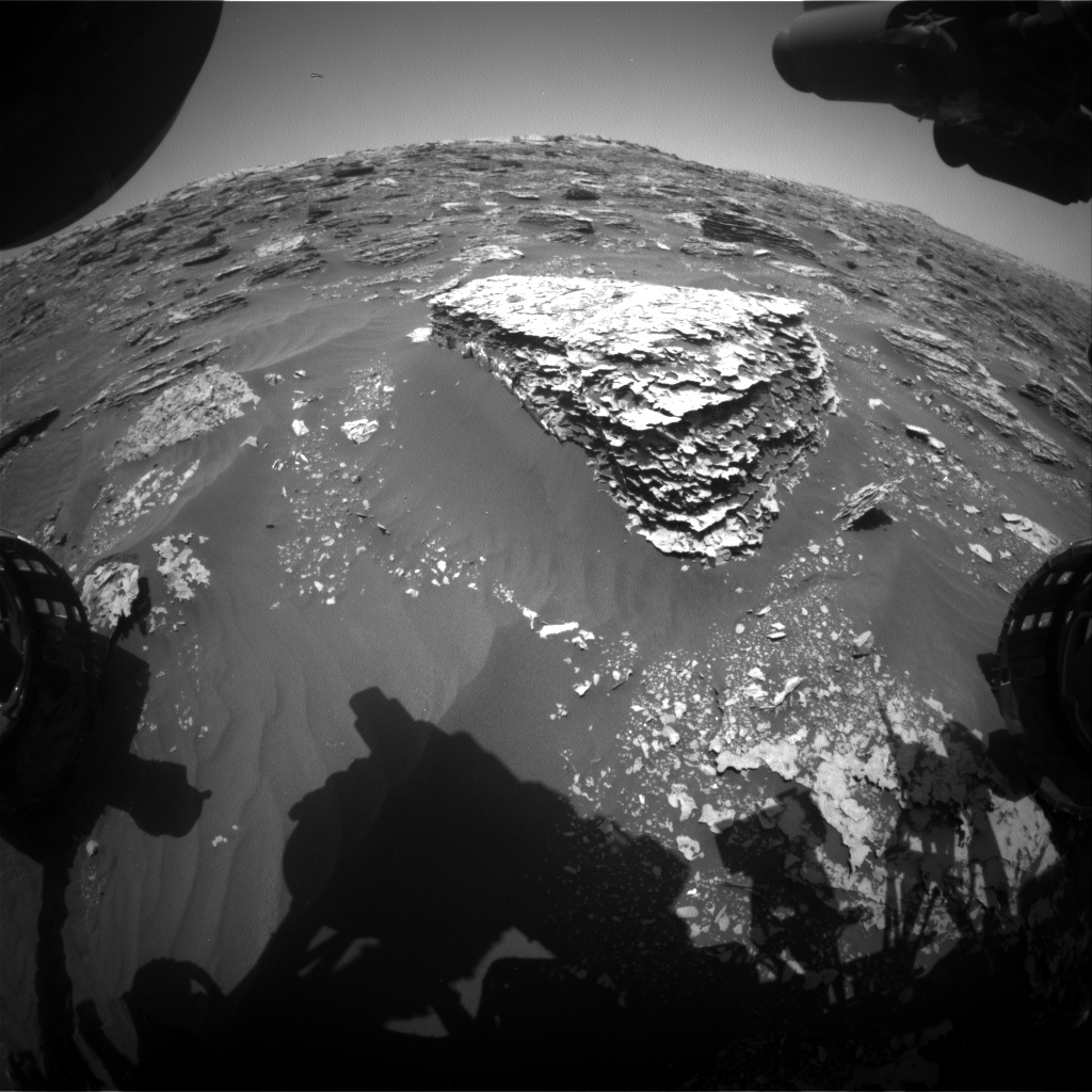 Nasa's Mars rover Curiosity acquired this image using its Front Hazard Avoidance Camera (Front Hazcam) on Sol 2063, at drive 1752, site number 70