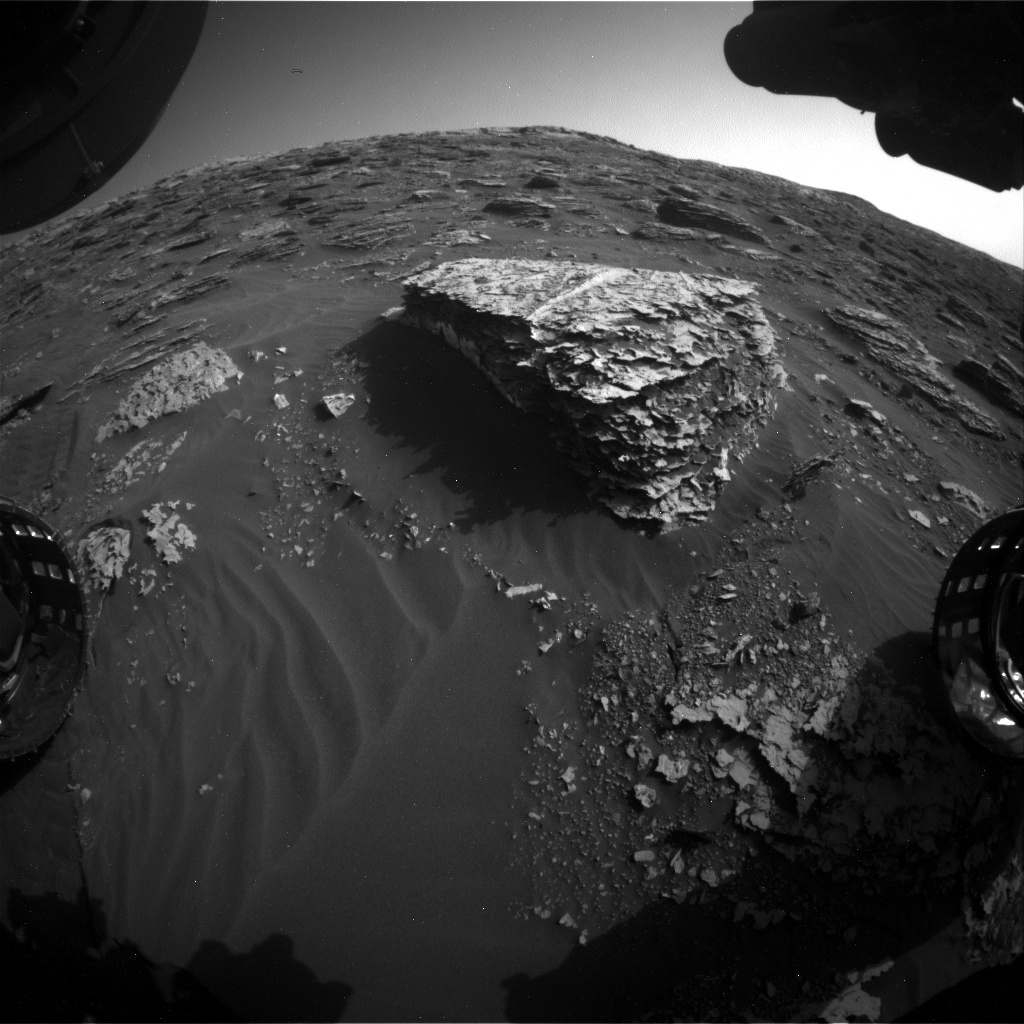 Nasa's Mars rover Curiosity acquired this image using its Front Hazard Avoidance Camera (Front Hazcam) on Sol 2064, at drive 1752, site number 70