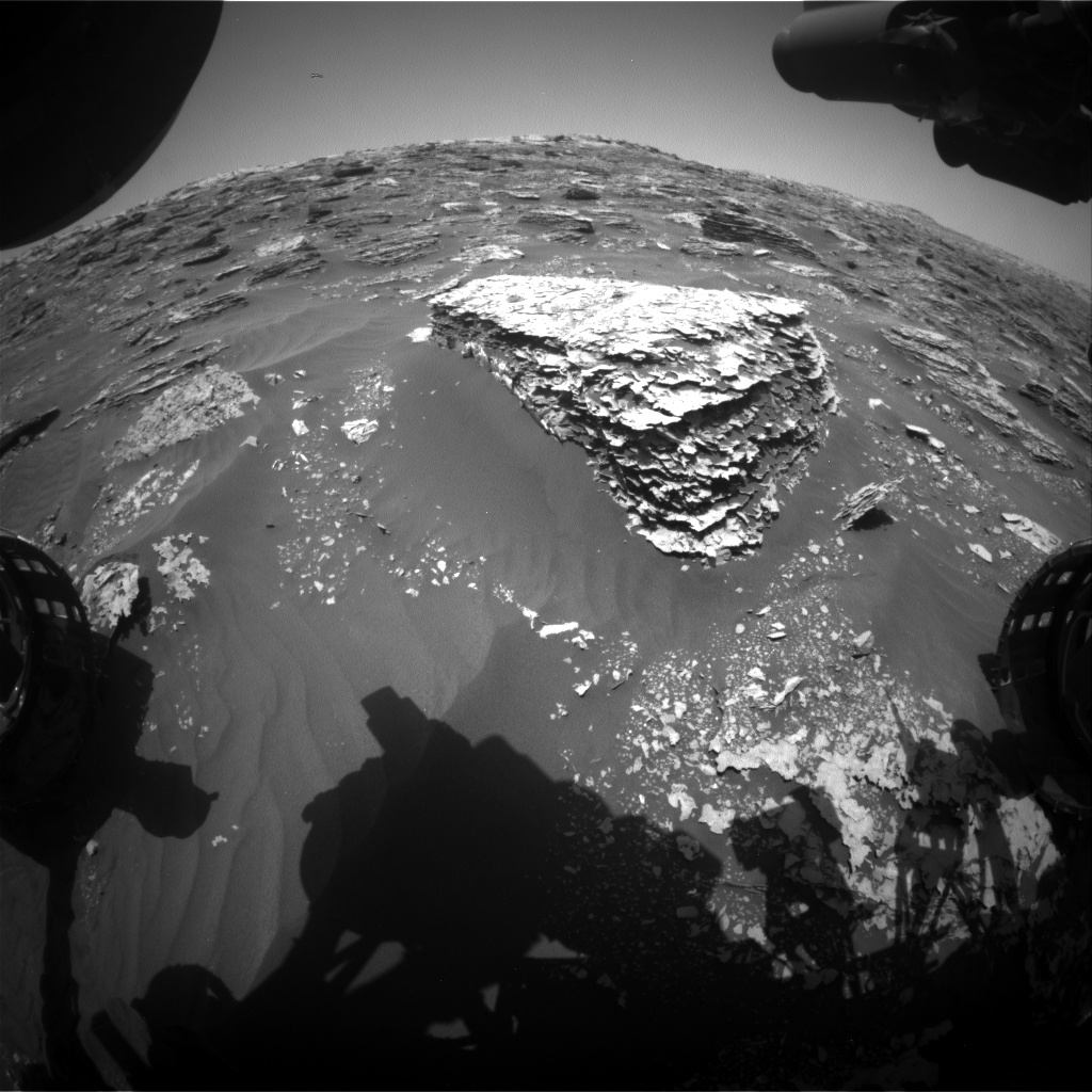 Nasa's Mars rover Curiosity acquired this image using its Front Hazard Avoidance Camera (Front Hazcam) on Sol 2065, at drive 1752, site number 70