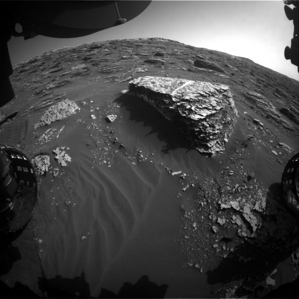 Nasa's Mars rover Curiosity acquired this image using its Front Hazard Avoidance Camera (Front Hazcam) on Sol 2066, at drive 1752, site number 70
