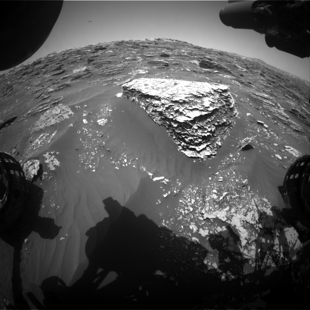 Nasa's Mars rover Curiosity acquired this image using its Front Hazard Avoidance Camera (Front Hazcam) on Sol 2069, at drive 1752, site number 70