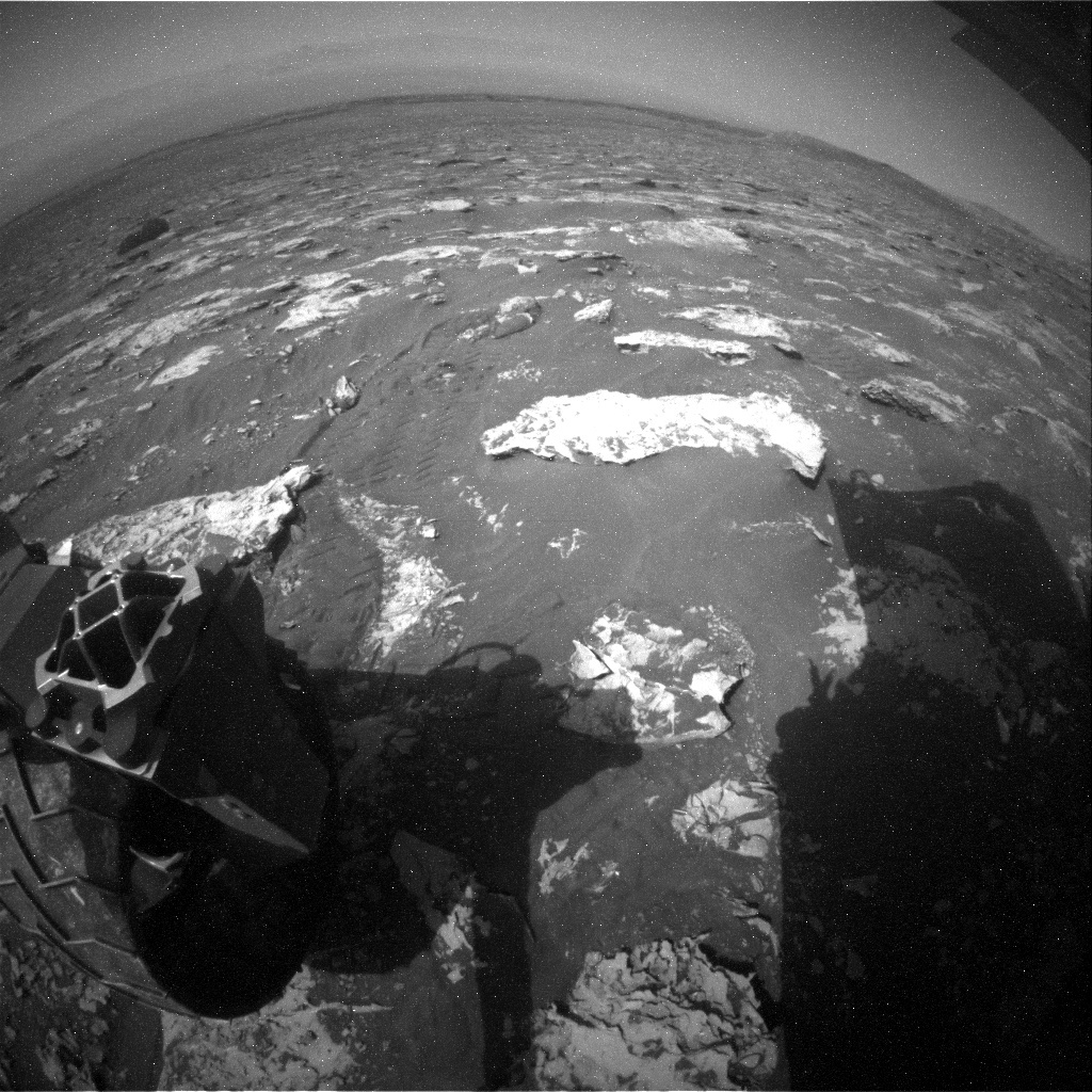 NASA's Mars rover Curiosity acquired this image using its Rear Hazard Avoidance Cameras (Rear Hazcams) on Sol 2070