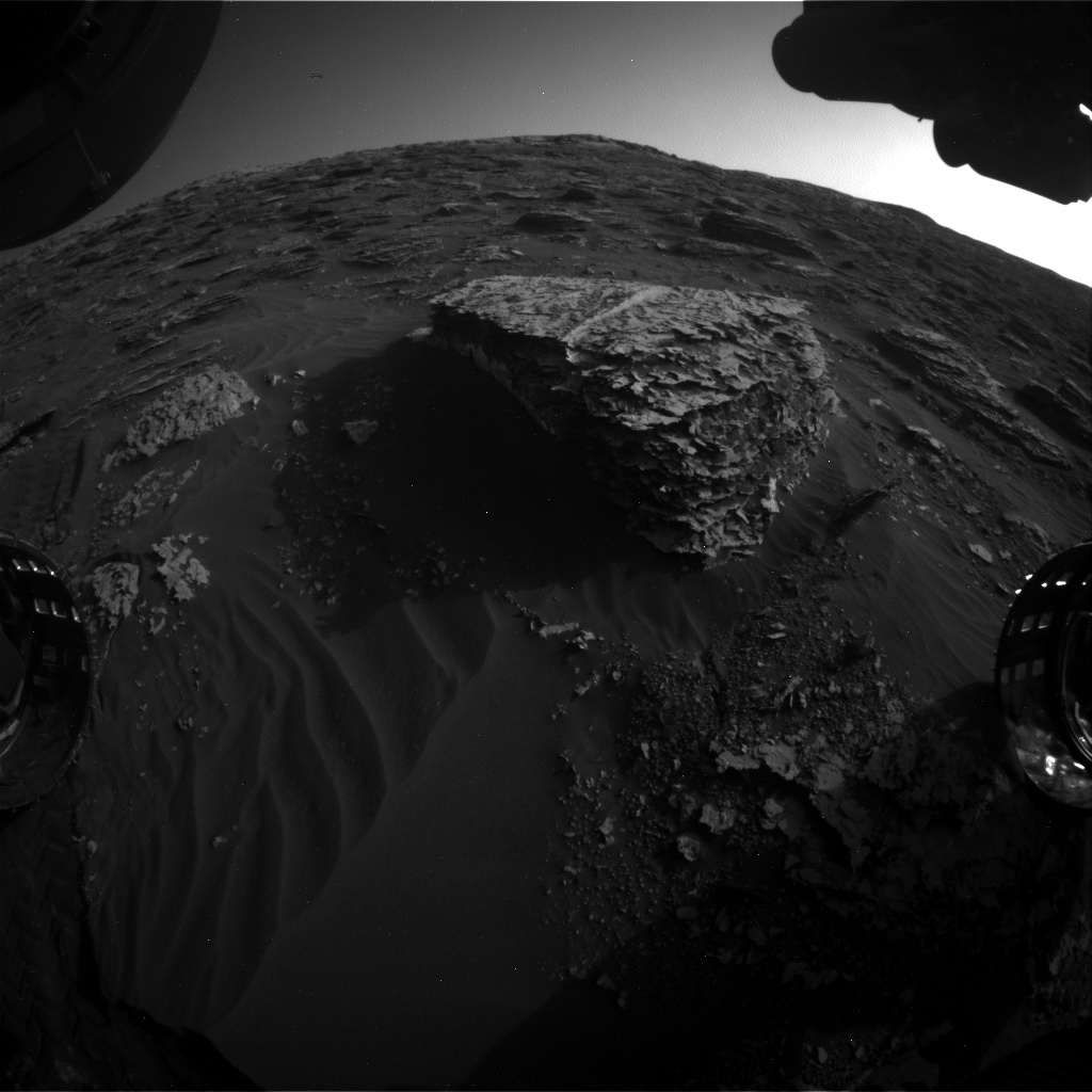 Nasa's Mars rover Curiosity acquired this image using its Front Hazard Avoidance Camera (Front Hazcam) on Sol 2071, at drive 1752, site number 70