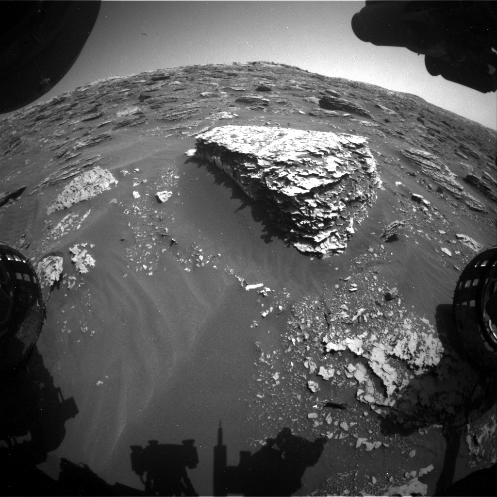 Nasa's Mars rover Curiosity acquired this image using its Front Hazard Avoidance Camera (Front Hazcam) on Sol 2072, at drive 1752, site number 70