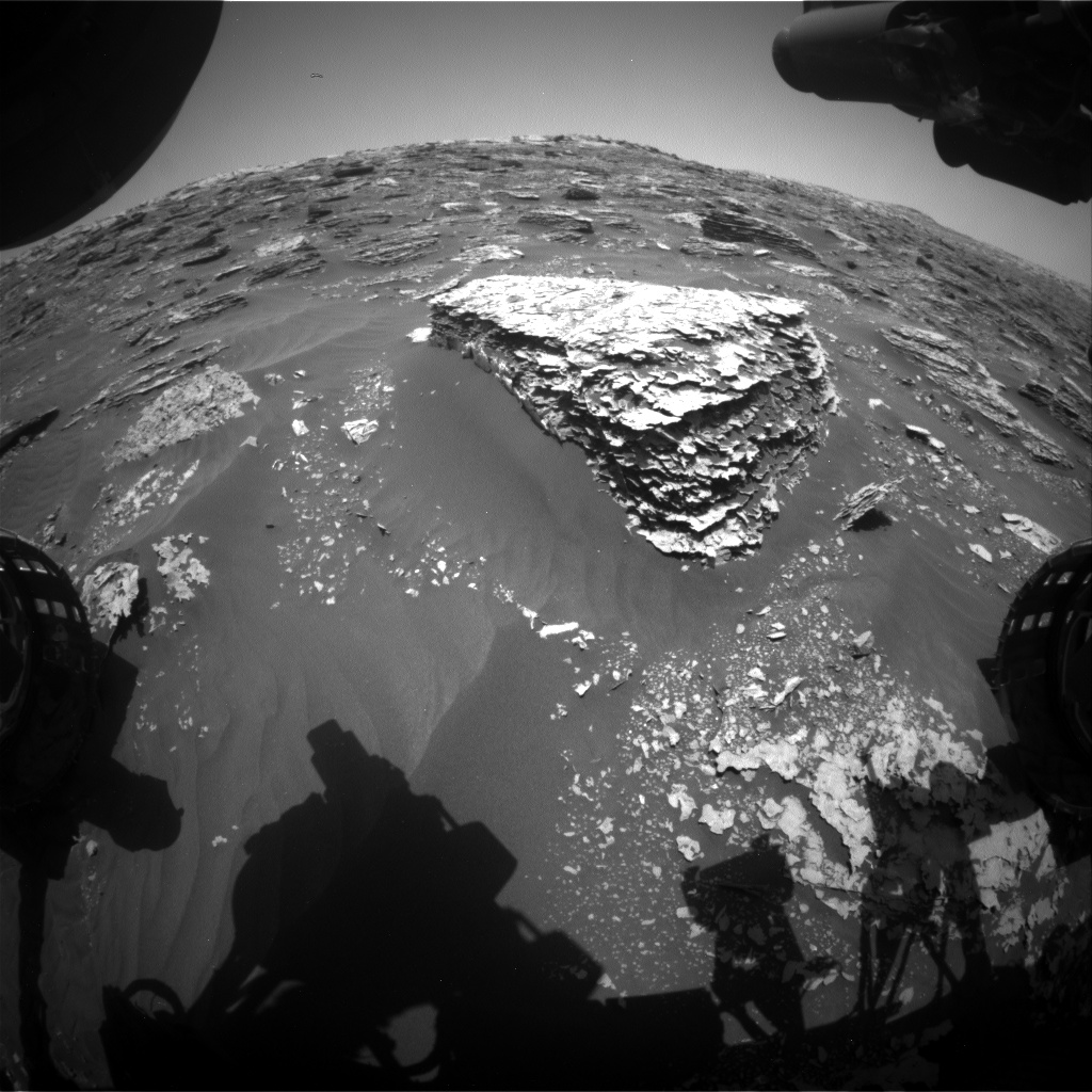 Nasa's Mars rover Curiosity acquired this image using its Front Hazard Avoidance Camera (Front Hazcam) on Sol 2074, at drive 1752, site number 70