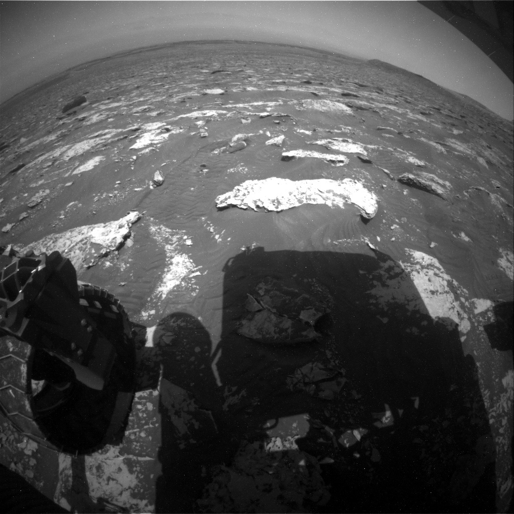 NASA's Mars rover Curiosity acquired this image using its Rear Hazard Avoidance Cameras (Rear Hazcams) on Sol 2074