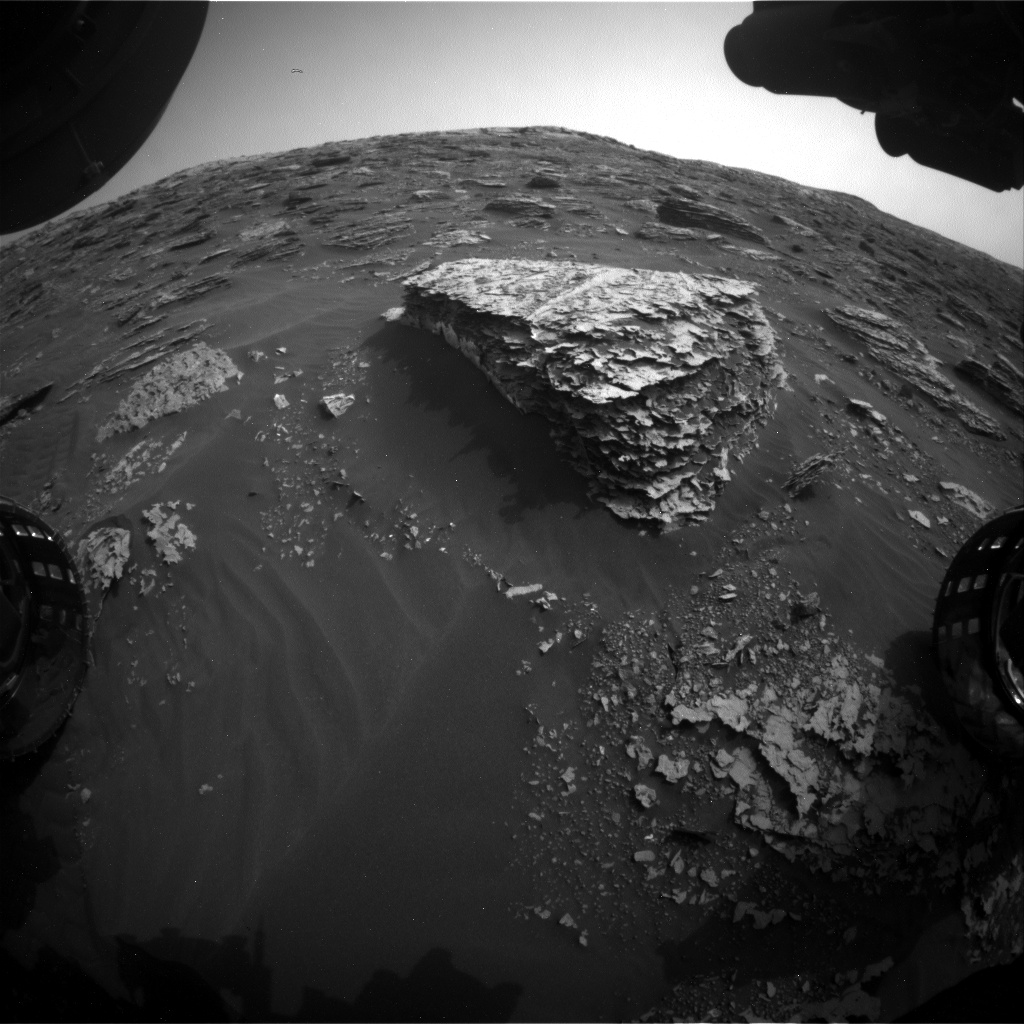 Nasa's Mars rover Curiosity acquired this image using its Front Hazard Avoidance Camera (Front Hazcam) on Sol 2077, at drive 1752, site number 70