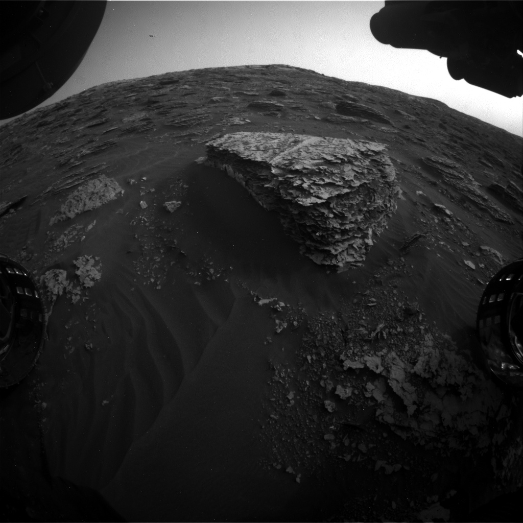 Nasa's Mars rover Curiosity acquired this image using its Front Hazard Avoidance Camera (Front Hazcam) on Sol 2078, at drive 1752, site number 70
