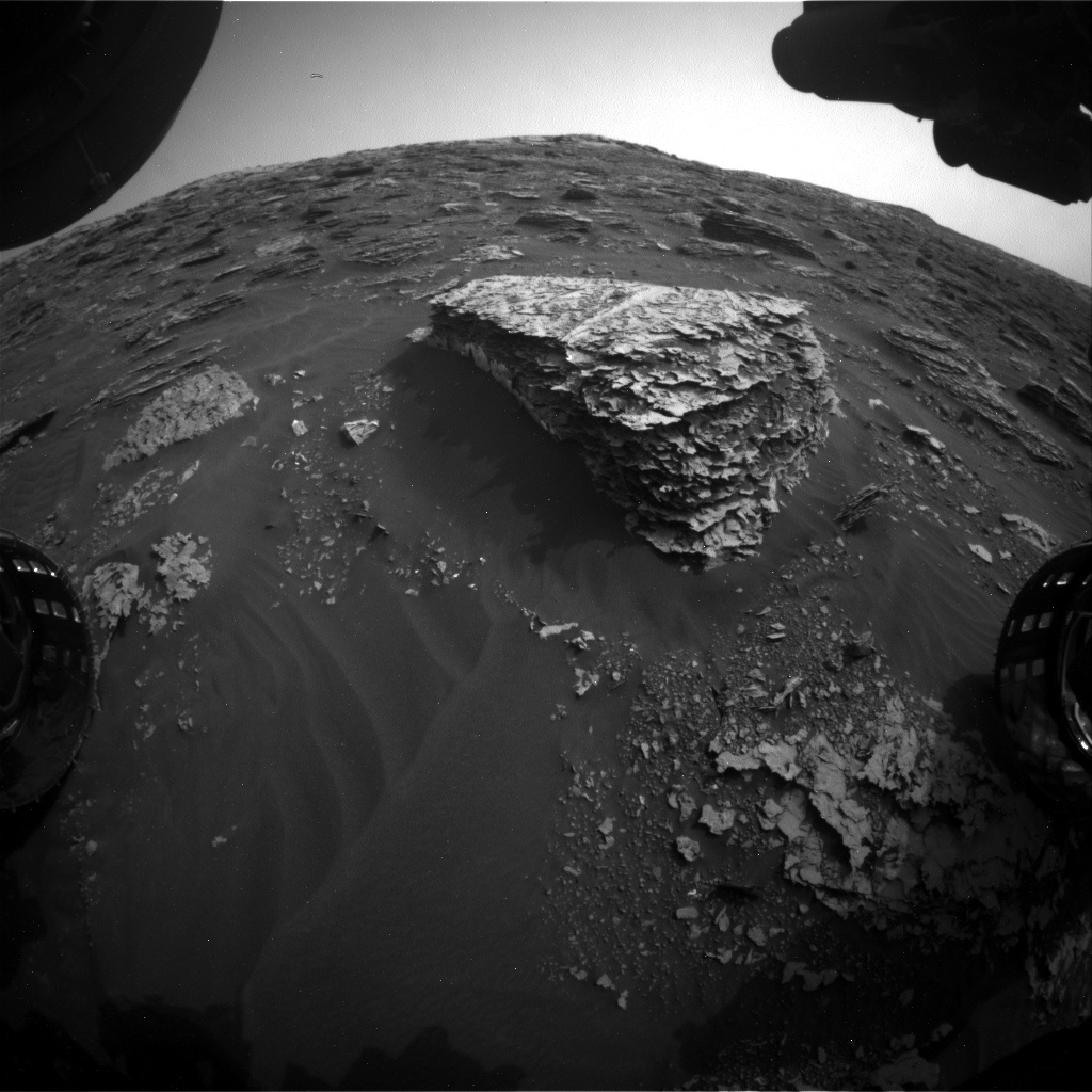 Nasa's Mars rover Curiosity acquired this image using its Front Hazard Avoidance Camera (Front Hazcam) on Sol 2079, at drive 1752, site number 70
