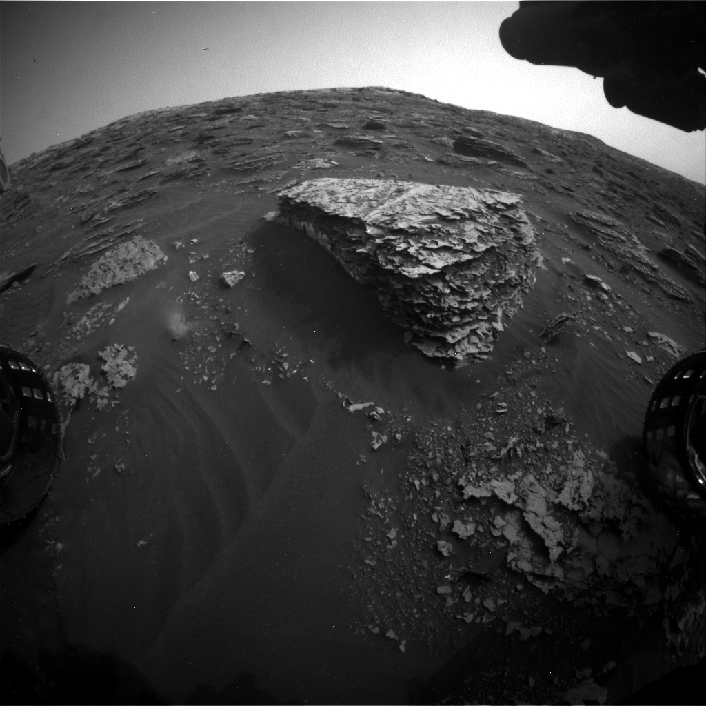 Nasa's Mars rover Curiosity acquired this image using its Front Hazard Avoidance Camera (Front Hazcam) on Sol 2080, at drive 1752, site number 70