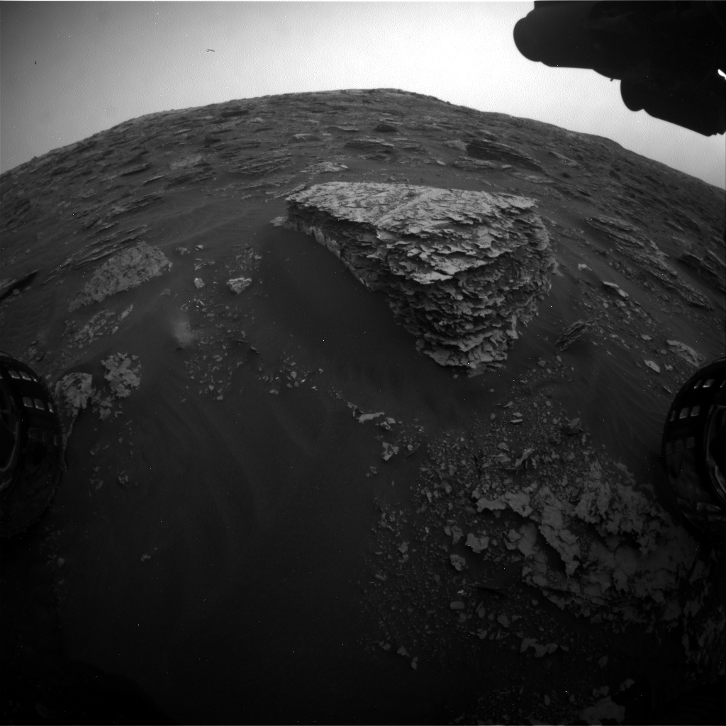 Nasa's Mars rover Curiosity acquired this image using its Front Hazard Avoidance Camera (Front Hazcam) on Sol 2081, at drive 1752, site number 70