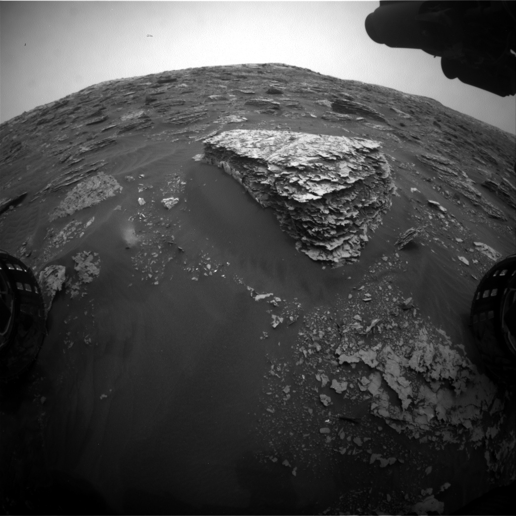 Nasa's Mars rover Curiosity acquired this image using its Front Hazard Avoidance Camera (Front Hazcam) on Sol 2082, at drive 1752, site number 70
