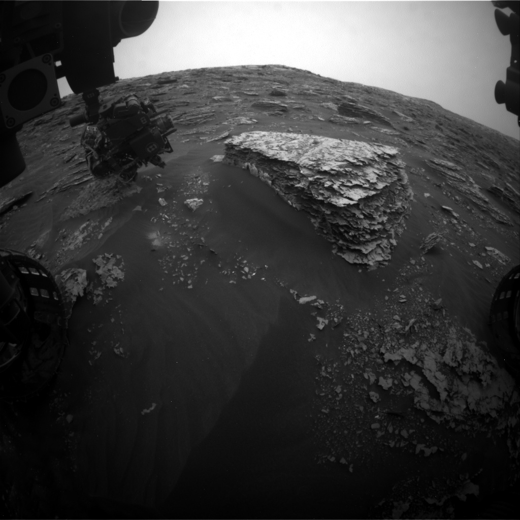 Nasa's Mars rover Curiosity acquired this image using its Front Hazard Avoidance Camera (Front Hazcam) on Sol 2084, at drive 0, site number 71