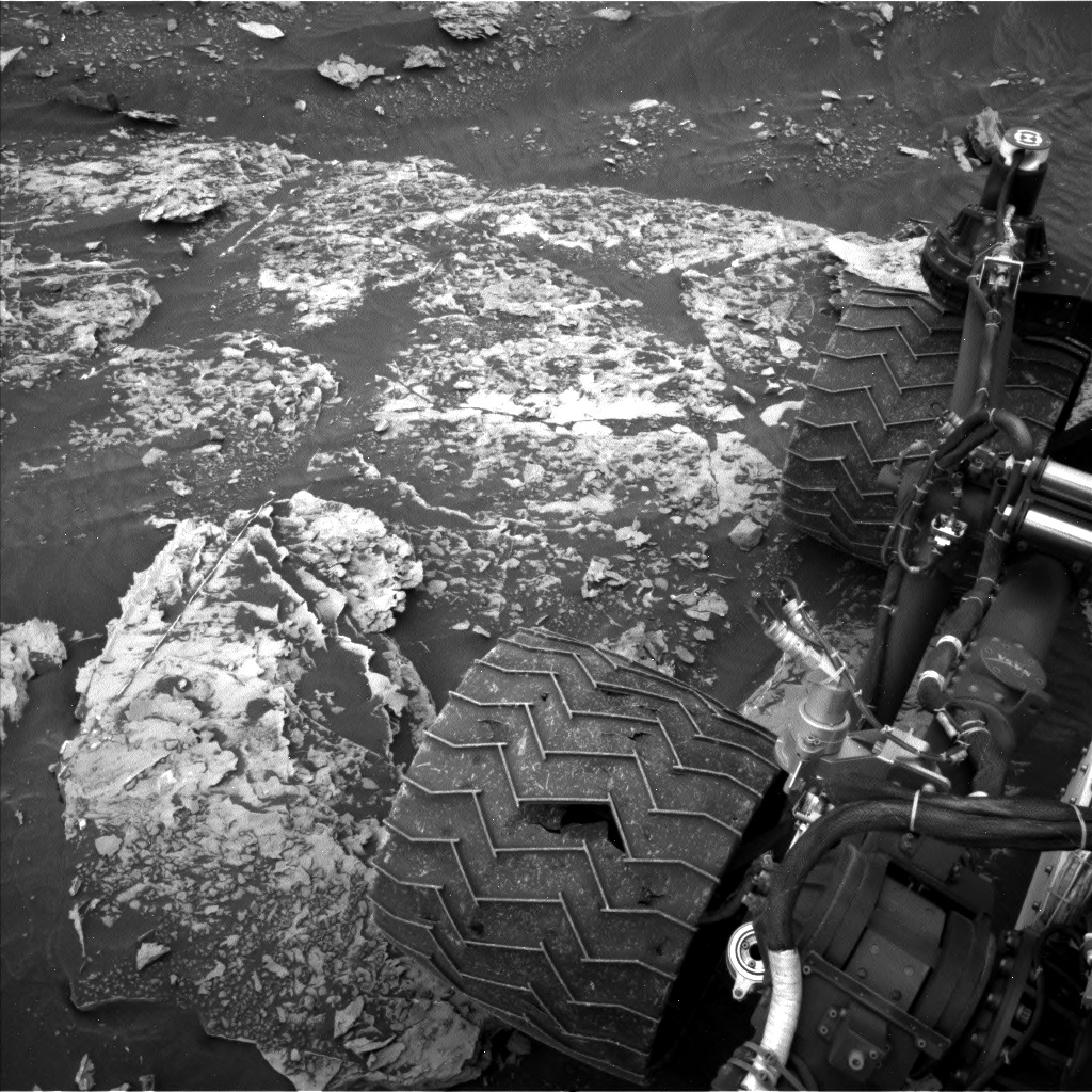 Nasa's Mars rover Curiosity acquired this image using its Left Navigation Camera on Sol 2084, at drive 0, site number 71