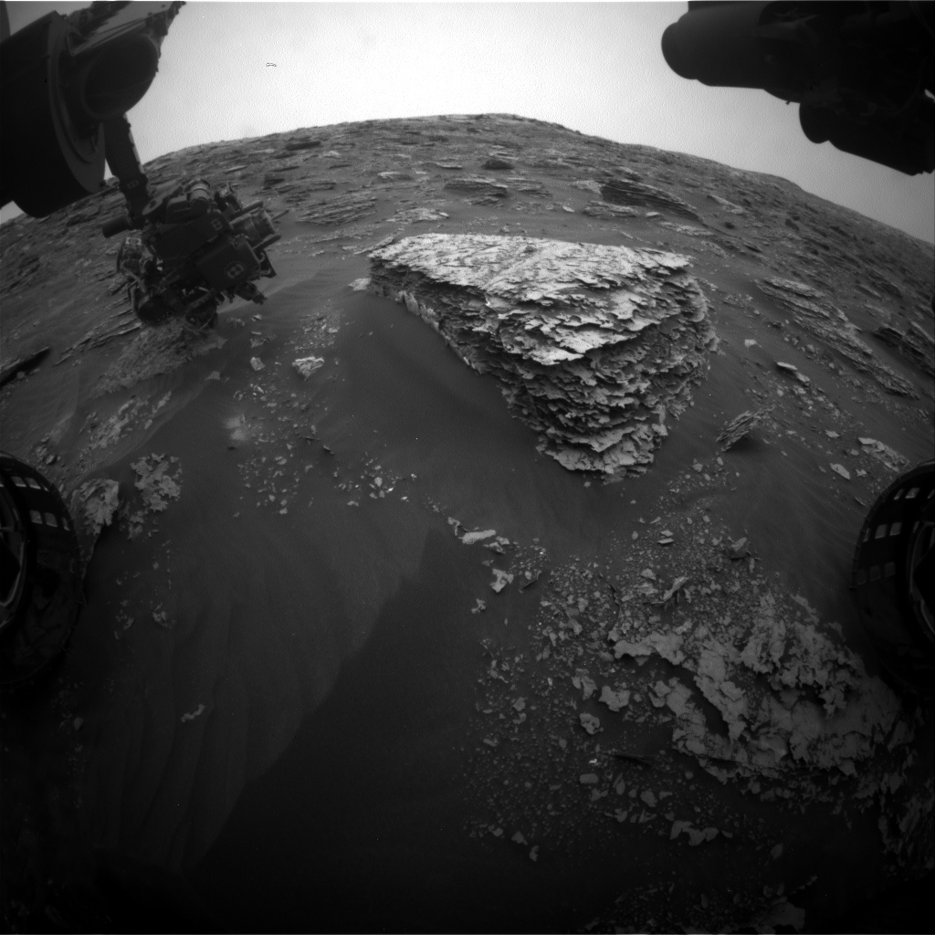 Nasa's Mars rover Curiosity acquired this image using its Front Hazard Avoidance Camera (Front Hazcam) on Sol 2085, at drive 0, site number 71