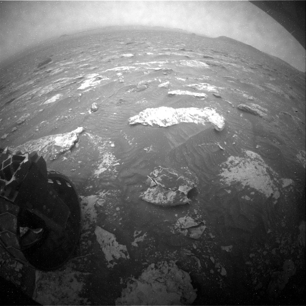 NASA's Mars rover Curiosity acquired this image using its Rear Hazard Avoidance Cameras (Rear Hazcams) on Sol 2085