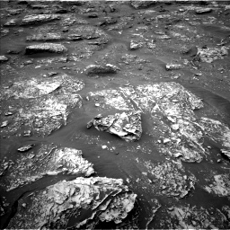 Nasa's Mars rover Curiosity acquired this image using its Left Navigation Camera on Sol 2086, at drive 18, site number 71