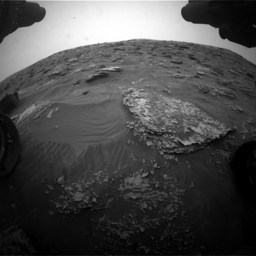 Nasa's Mars rover Curiosity acquired this image using its Front Hazard Avoidance Camera (Front Hazcam) on Sol 2087, at drive 66, site number 71
