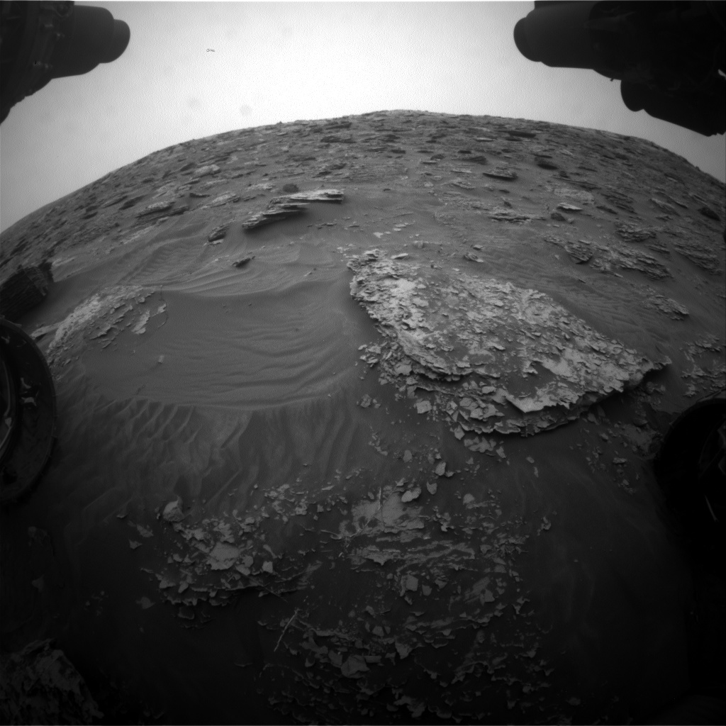 Nasa's Mars rover Curiosity acquired this image using its Front Hazard Avoidance Camera (Front Hazcam) on Sol 2088, at drive 66, site number 71