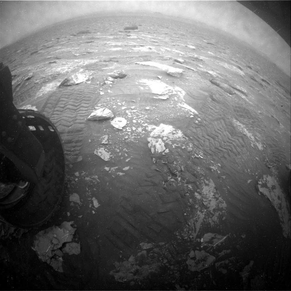 NASA's Mars rover Curiosity acquired this image using its Rear Hazard Avoidance Cameras (Rear Hazcams) on Sol 2088