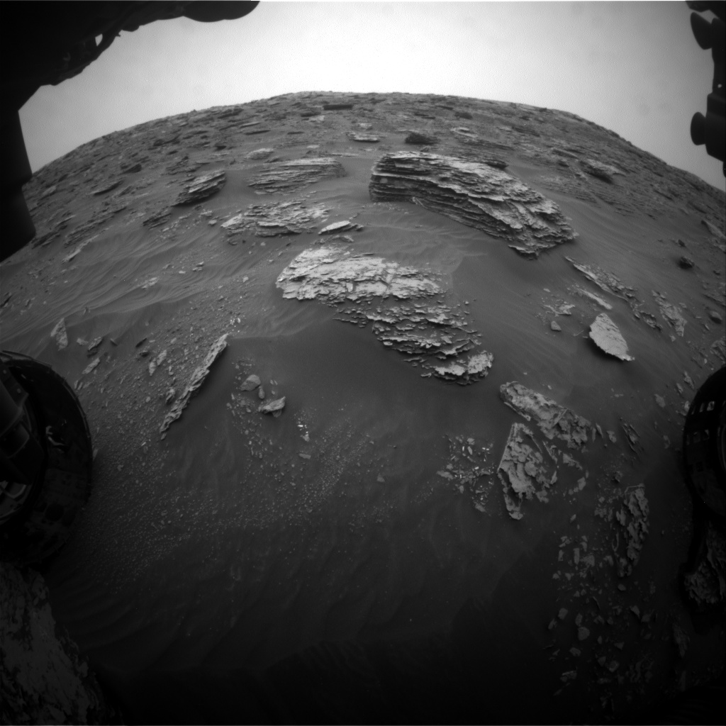 Nasa's Mars rover Curiosity acquired this image using its Front Hazard Avoidance Camera (Front Hazcam) on Sol 2089, at drive 228, site number 71