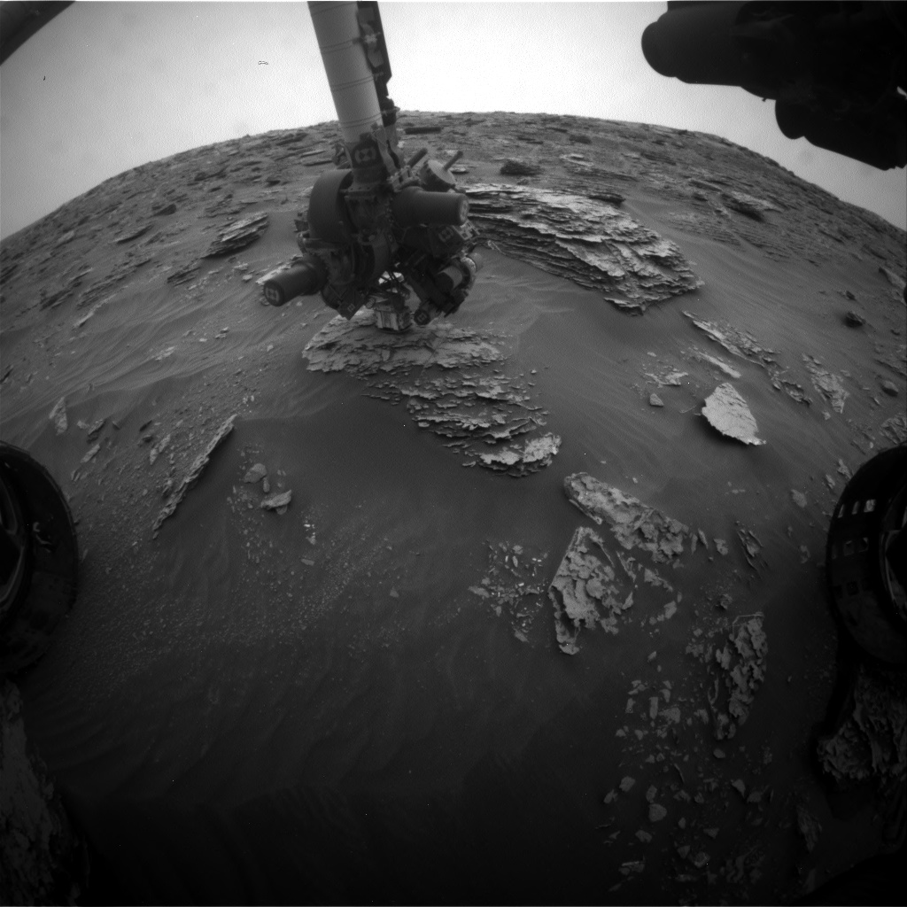 Nasa's Mars rover Curiosity acquired this image using its Front Hazard Avoidance Camera (Front Hazcam) on Sol 2090, at drive 228, site number 71