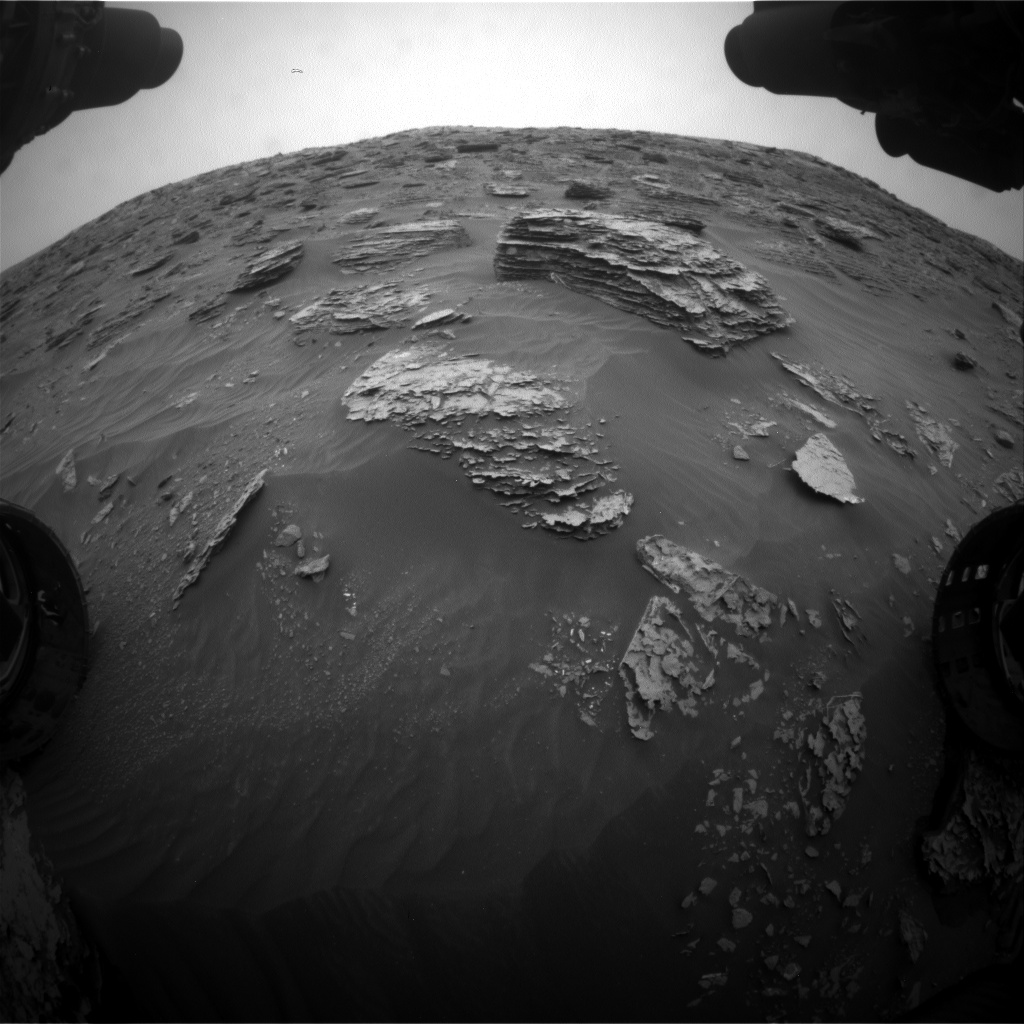 Nasa's Mars rover Curiosity acquired this image using its Front Hazard Avoidance Camera (Front Hazcam) on Sol 2091, at drive 228, site number 71