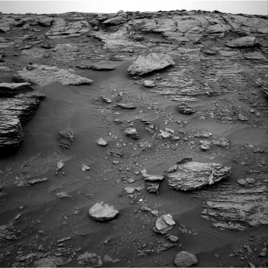 NASA's Mars rover Curiosity acquired this image using its Right Navigation Cameras (Navcams) on Sol 2092