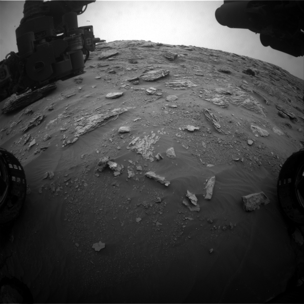 Nasa's Mars rover Curiosity acquired this image using its Front Hazard Avoidance Camera (Front Hazcam) on Sol 2093, at drive 570, site number 71