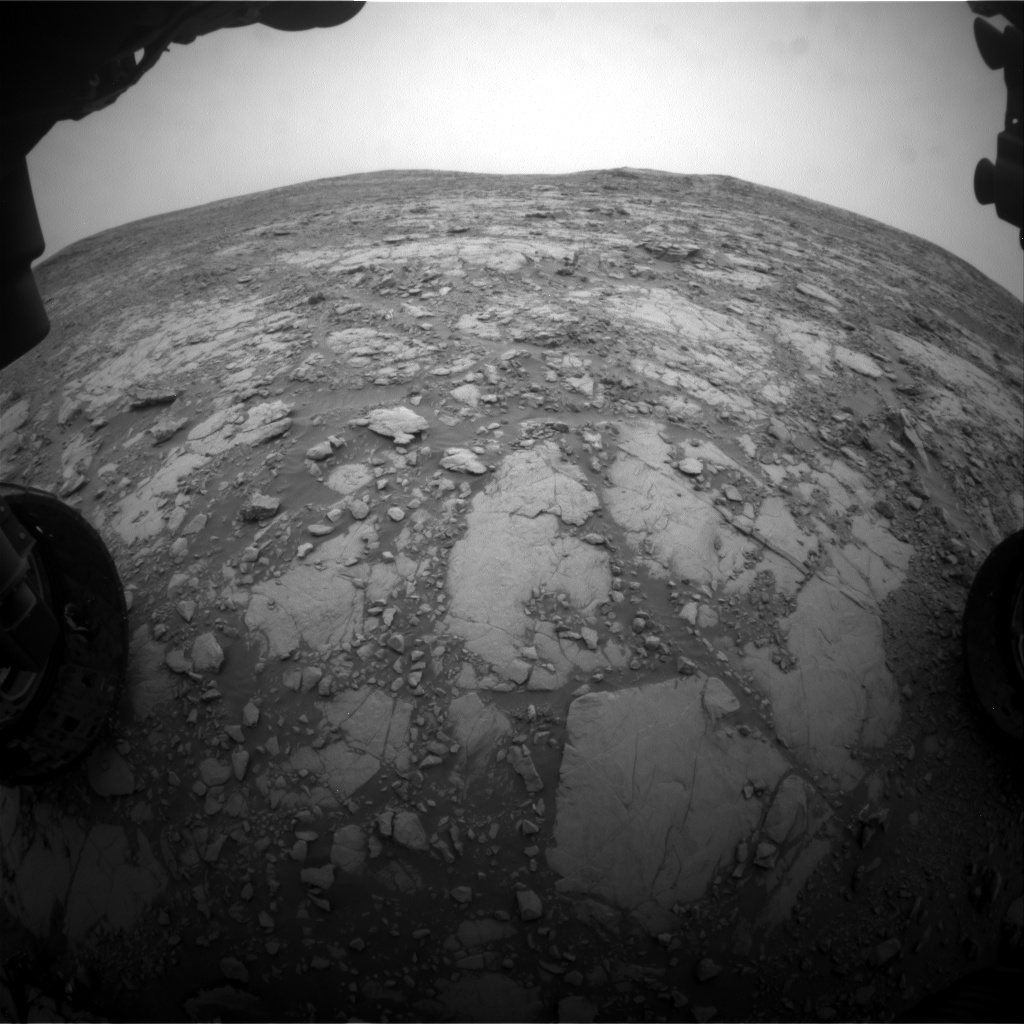 Nasa's Mars rover Curiosity acquired this image using its Front Hazard Avoidance Camera (Front Hazcam) on Sol 2094, at drive 996, site number 71
