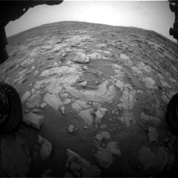 Nasa's Mars rover Curiosity acquired this image using its Front Hazard Avoidance Camera (Front Hazcam) on Sol 2095, at drive 1248, site number 71