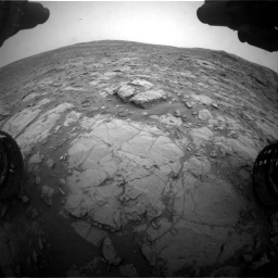 Nasa's Mars rover Curiosity acquired this image using its Front Hazard Avoidance Camera (Front Hazcam) on Sol 2095, at drive 1212, site number 71