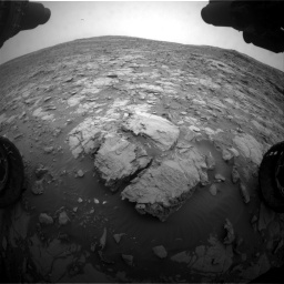 Nasa's Mars rover Curiosity acquired this image using its Front Hazard Avoidance Camera (Front Hazcam) on Sol 2095, at drive 1224, site number 71