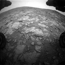 Nasa's Mars rover Curiosity acquired this image using its Front Hazard Avoidance Camera (Front Hazcam) on Sol 2095, at drive 1236, site number 71