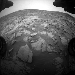 Nasa's Mars rover Curiosity acquired this image using its Front Hazard Avoidance Camera (Front Hazcam) on Sol 2095, at drive 1260, site number 71