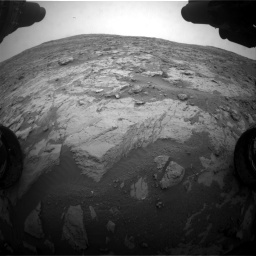Nasa's Mars rover Curiosity acquired this image using its Front Hazard Avoidance Camera (Front Hazcam) on Sol 2095, at drive 1320, site number 71