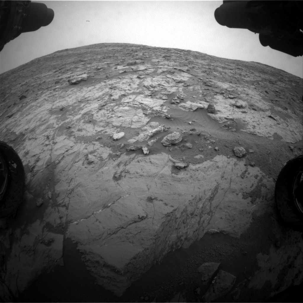 NASA's Mars rover Curiosity acquired this image using its Front Hazard Avoidance Cameras (Front Hazcams) on Sol 2095