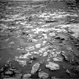 Nasa's Mars rover Curiosity acquired this image using its Left Navigation Camera on Sol 2095, at drive 1260, site number 71