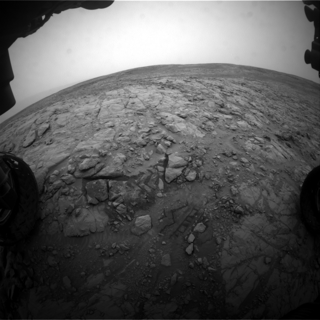 Nasa's Mars rover Curiosity acquired this image using its Front Hazard Avoidance Camera (Front Hazcam) on Sol 2098, at drive 1586, site number 71