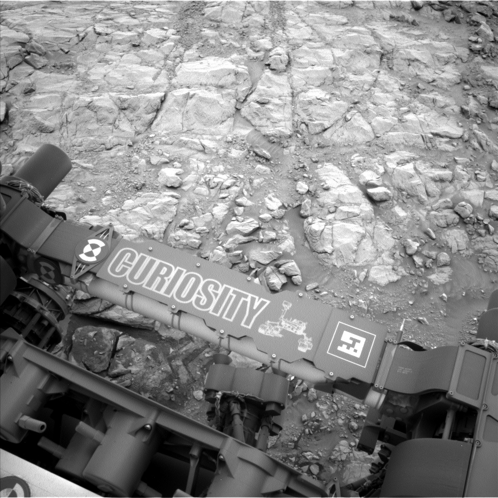 Nasa's Mars rover Curiosity acquired this image using its Left Navigation Camera on Sol 2098, at drive 1586, site number 71