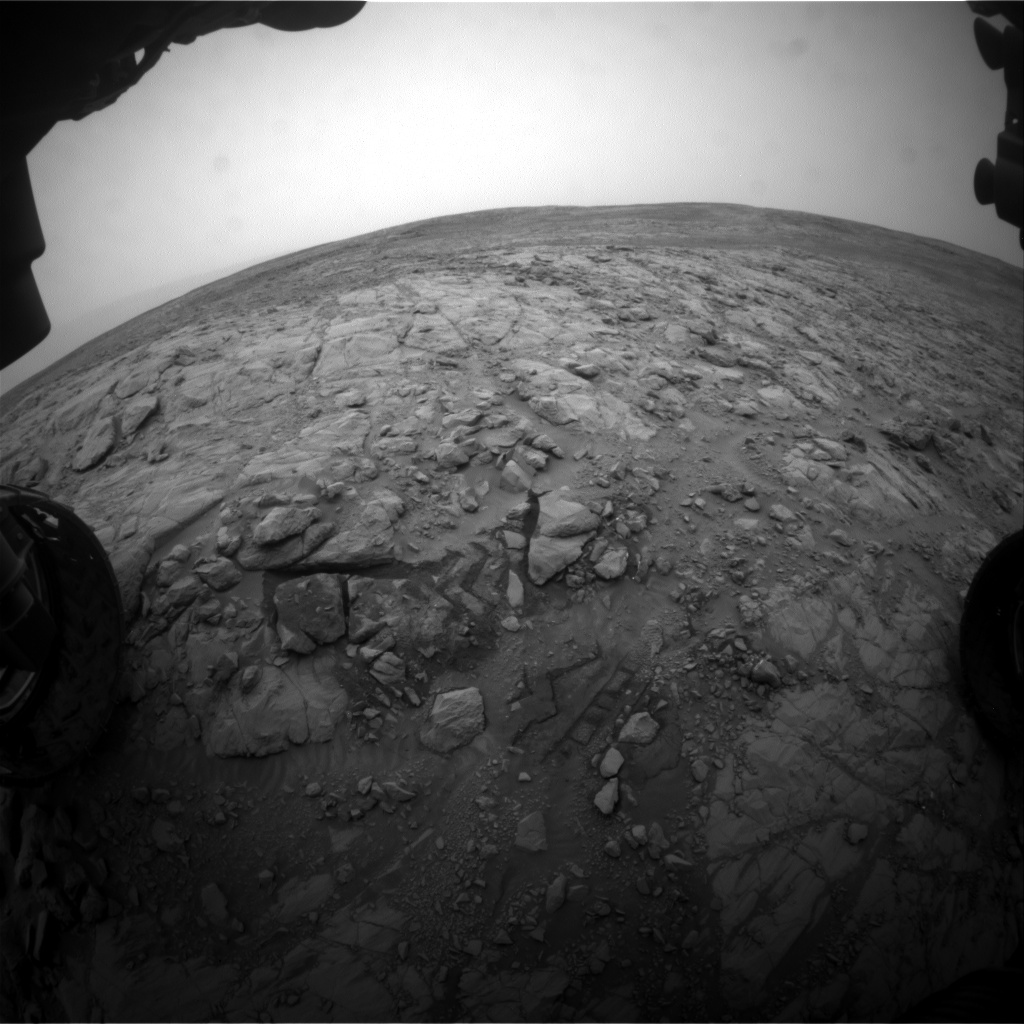 Nasa's Mars rover Curiosity acquired this image using its Front Hazard Avoidance Camera (Front Hazcam) on Sol 2099, at drive 1586, site number 71