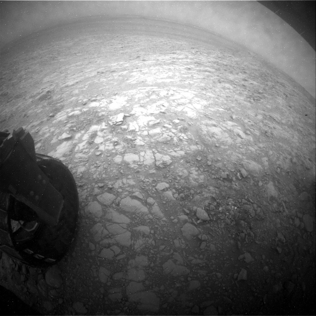 NASA's Mars rover Curiosity acquired this image using its Rear Hazard Avoidance Cameras (Rear Hazcams) on Sol 2099
