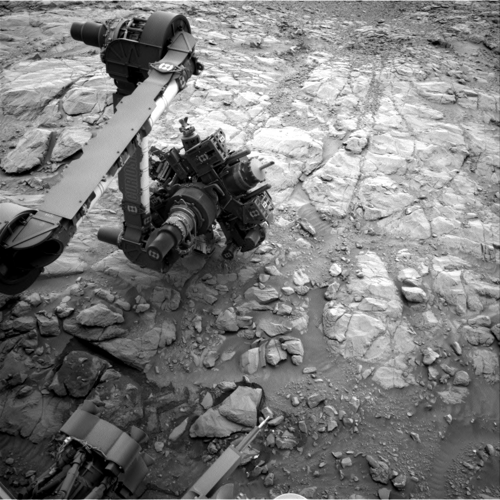 Nasa's Mars rover Curiosity acquired this image using its Right Navigation Camera on Sol 2102, at drive 1586, site number 71