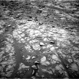 Nasa's Mars rover Curiosity acquired this image using its Right Navigation Camera on Sol 2102, at drive 1604, site number 71