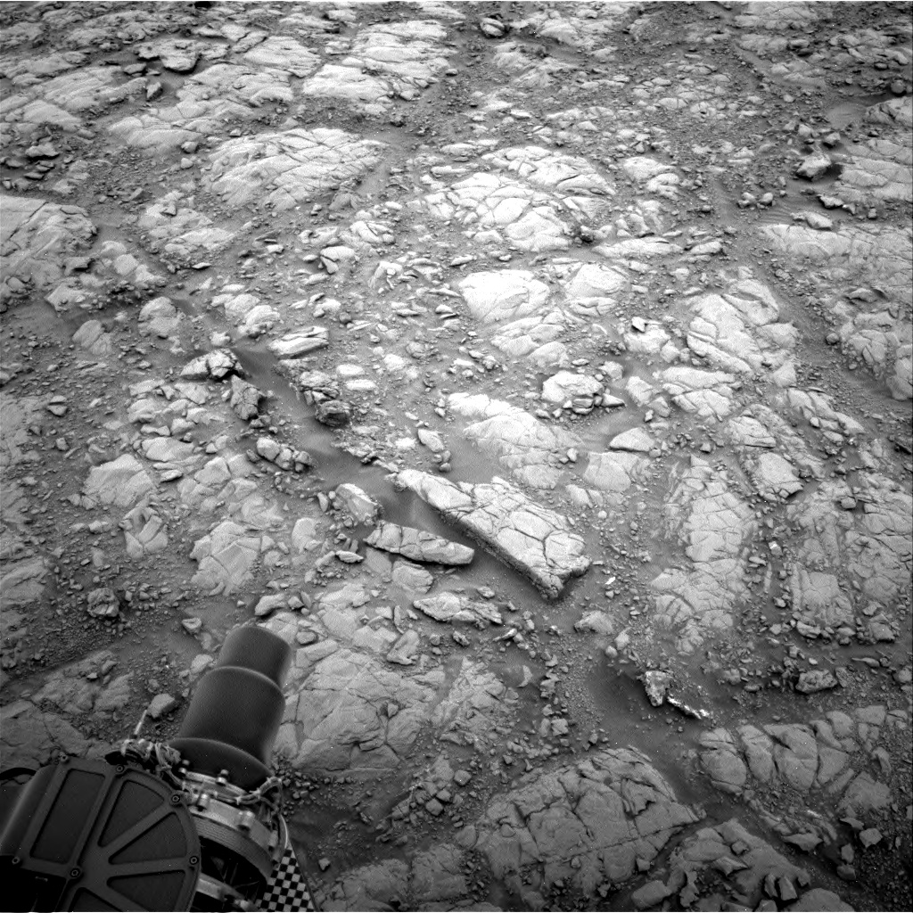 Nasa's Mars rover Curiosity acquired this image using its Right Navigation Camera on Sol 2102, at drive 1818, site number 71
