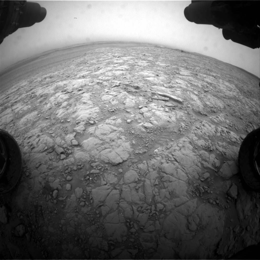 Nasa's Mars rover Curiosity acquired this image using its Front Hazard Avoidance Camera (Front Hazcam) on Sol 2103, at drive 1818, site number 71