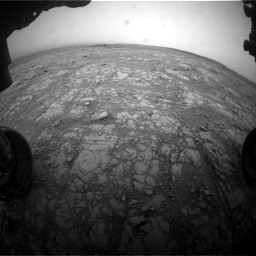 Nasa's Mars rover Curiosity acquired this image using its Front Hazard Avoidance Camera (Front Hazcam) on Sol 2104, at drive 2100, site number 71
