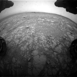 Nasa's Mars rover Curiosity acquired this image using its Front Hazard Avoidance Camera (Front Hazcam) on Sol 2104, at drive 2118, site number 71