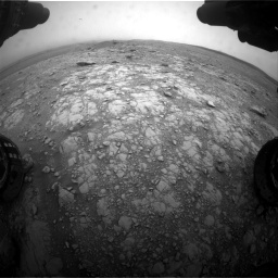 Nasa's Mars rover Curiosity acquired this image using its Front Hazard Avoidance Camera (Front Hazcam) on Sol 2104, at drive 2322, site number 71