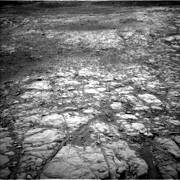 Nasa's Mars rover Curiosity acquired this image using its Left Navigation Camera on Sol 2104, at drive 1866, site number 71